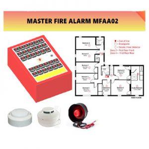 Fire Alarm System Mini Kebakaran Sistem 8 Titik Asap Api